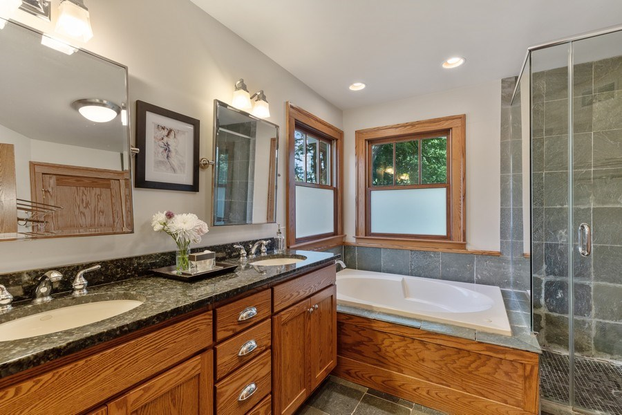 Real Estate Photography - 133 Scottswood Road, Riverside, IL, 60546 - Master Bathroom