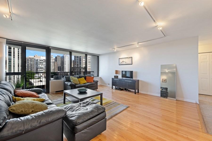 Real Estate Photography - 1560 N Sandburg Ter 904, Chicago, IL, 60610 - Living Room