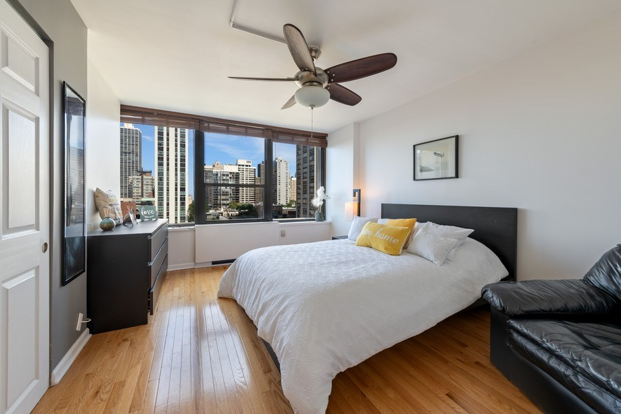 Real Estate Photography - 1560 N Sandburg Ter 904, Chicago, IL, 60610 - Bedroom