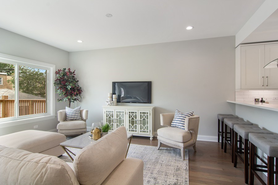 Real Estate Photography - 3537 N. Kostner, Chicago, IL, 60641 - Family Room