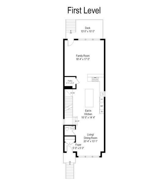 Real Estate Photography - 3537 N. Kostner, Chicago, IL, 60641 - Floor Plan
