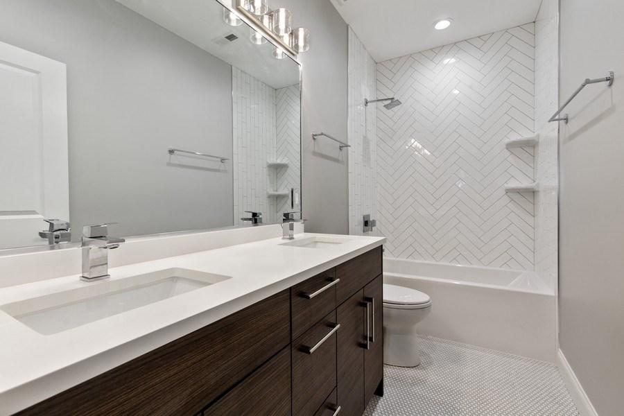 Real Estate Photography - 3537 N. Kostner, Chicago, IL, 60641 - 2nd Bathroom