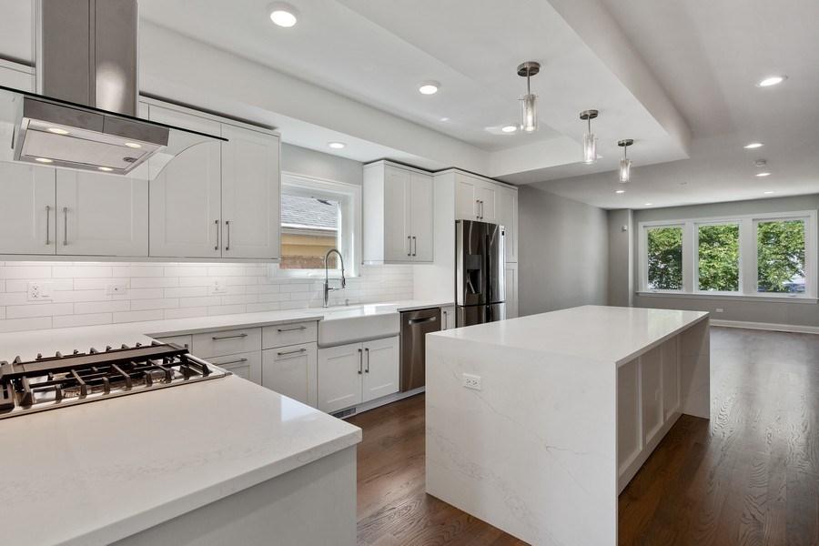 Real Estate Photography - 3537 N. Kostner, Chicago, IL, 60641 - Kitchen / Living Room