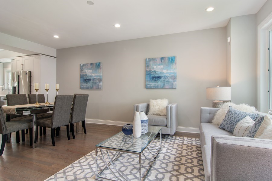 Real Estate Photography - 3537 N. Kostner, Chicago, IL, 60641 - Living Room / Dining Room