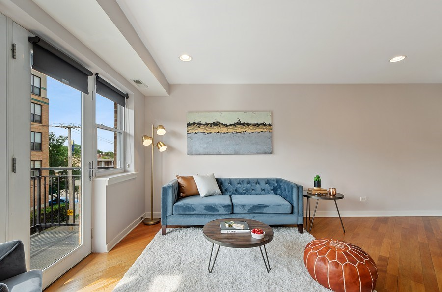 Real Estate Photography - 2525 N. Bryn Mawr Ave. Unit 304, Chicago, IL, 60659 - Living Room