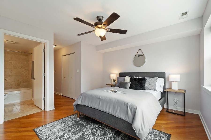 Real Estate Photography - 2525 N. Bryn Mawr Ave. Unit 304, Chicago, IL, 60659 - Master Bedroom