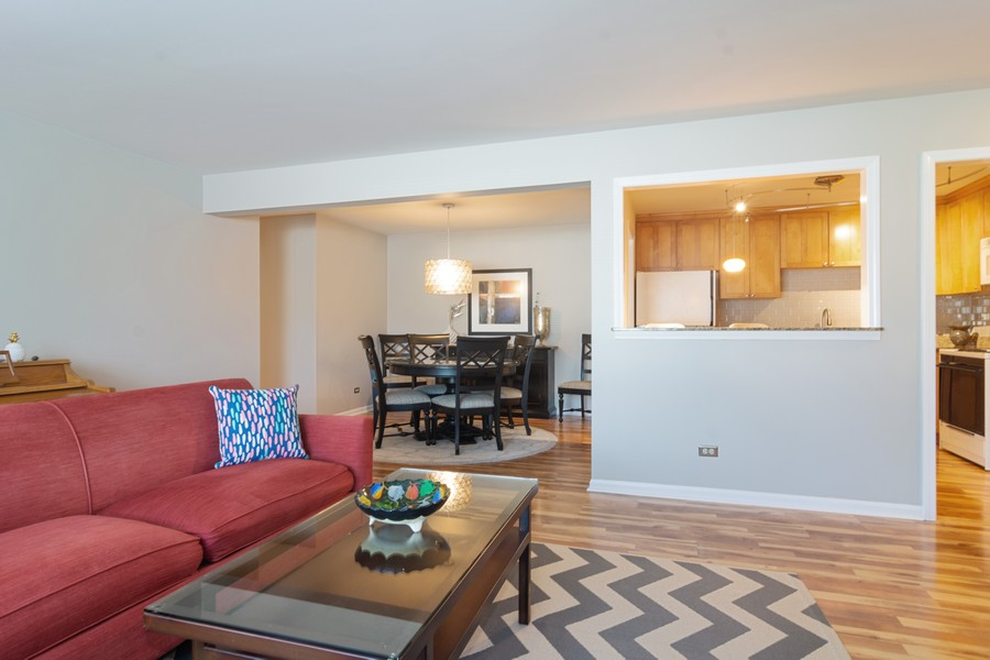 Real Estate Photography - 205 N Ridge, Arlington Heights, IL, 60004 - Living Room / Dining Room