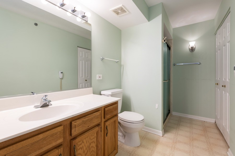 Real Estate Photography - 1220 Depot, Unit 415, Glenview, IL, 60625 - Master Bathroom