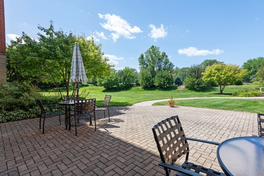 Real Estate Photography - 1220 Depot, Unit 415, Glenview, IL, 60625 - Patio