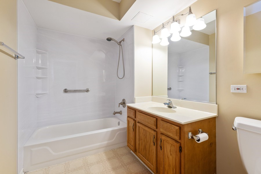 Real Estate Photography - 1220 Depot, Unit 415, Glenview, IL, 60625 - 2nd Bathroom
