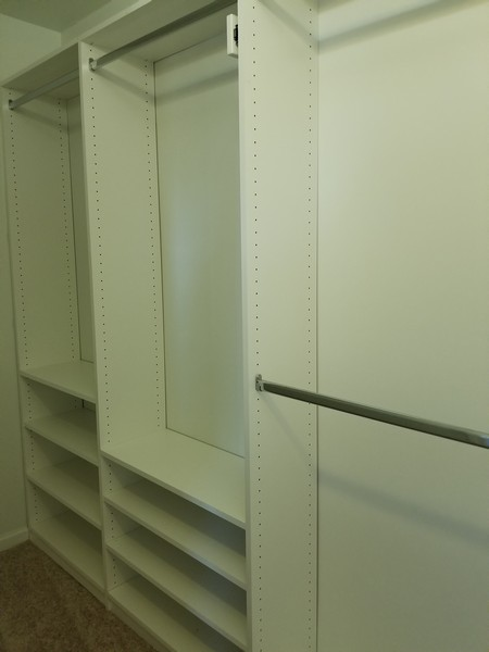 Real Estate Photography - 1220 Depot, Unit 415, Glenview, IL, 60625 - Master Walk in closet