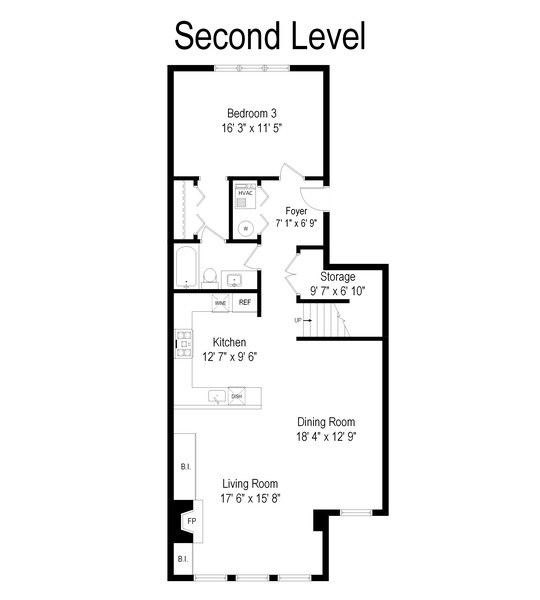 Real Estate Photography - 2451 N Clybourn, Chicago, IL, 60614 - Floor Plan