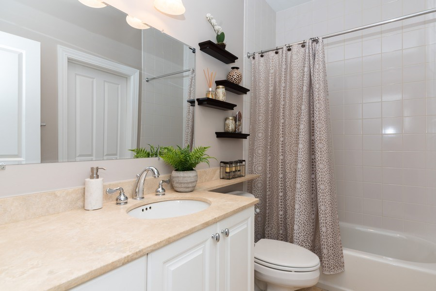 Real Estate Photography - 2451 N Clybourn, Chicago, IL, 60614 - 2nd Bathroom