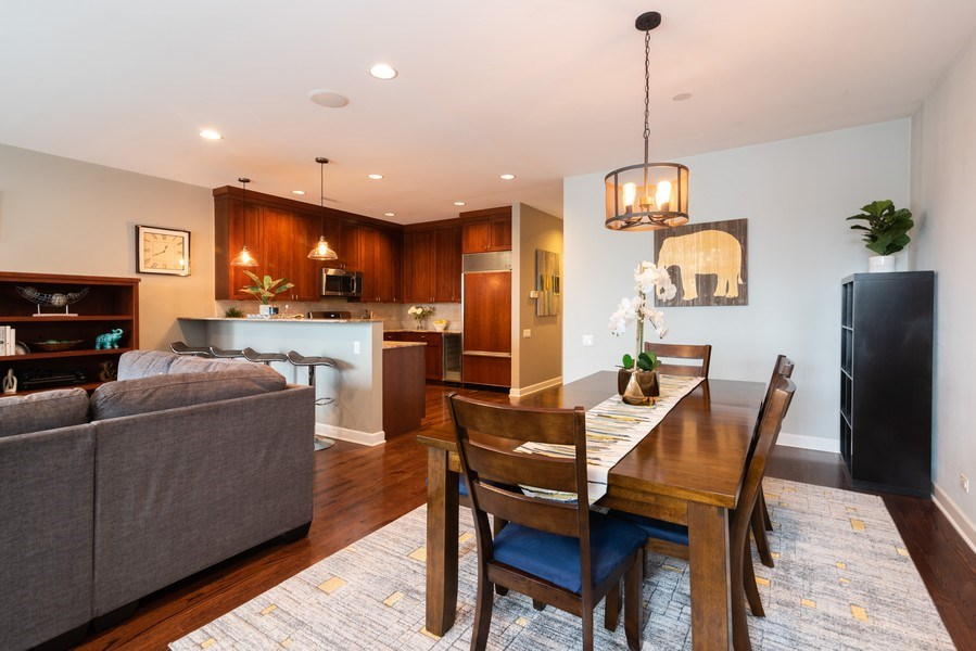 Real Estate Photography - 2451 N Clybourn, Chicago, IL, 60614 - Kitchen / Dining Room