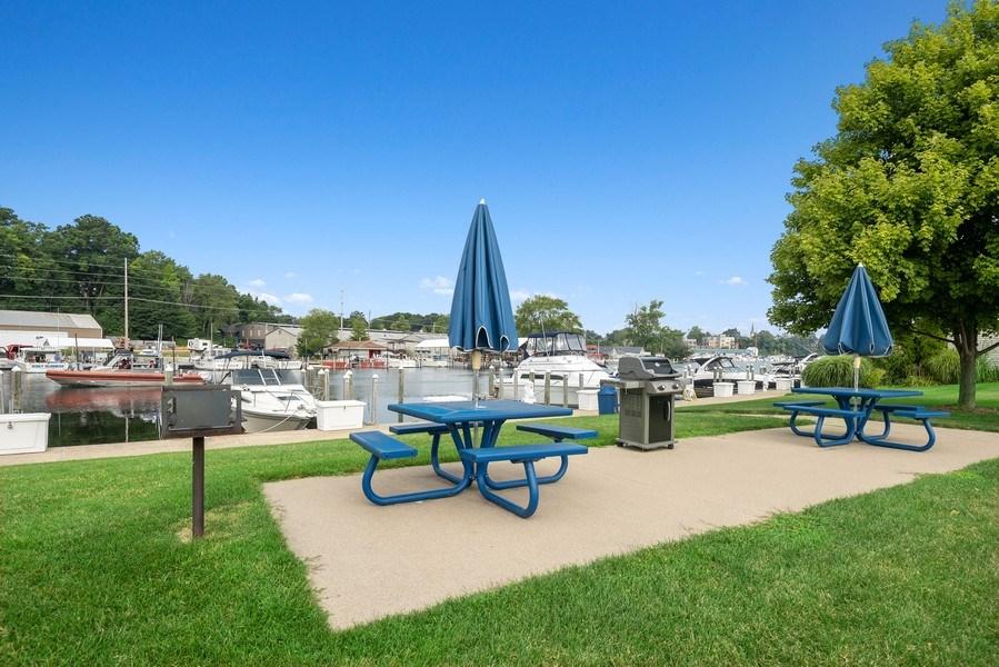 Real Estate Photography - 407 Anchors Way, St. Joseph, MI, 49085 - Picnic Area Near Slip