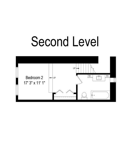 Real Estate Photography - 1445 W. Belden Ave, Unit 3K, Chicago, IL, 60614 - Floor Plan