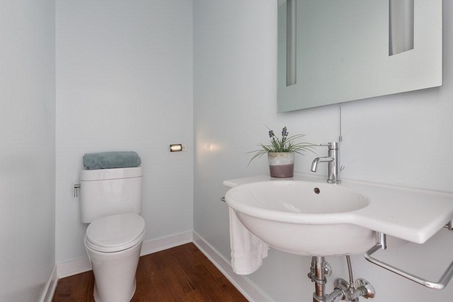 Real Estate Photography - 1445 W. Belden Ave, Unit 3K, Chicago, IL, 60614 - Half Bath