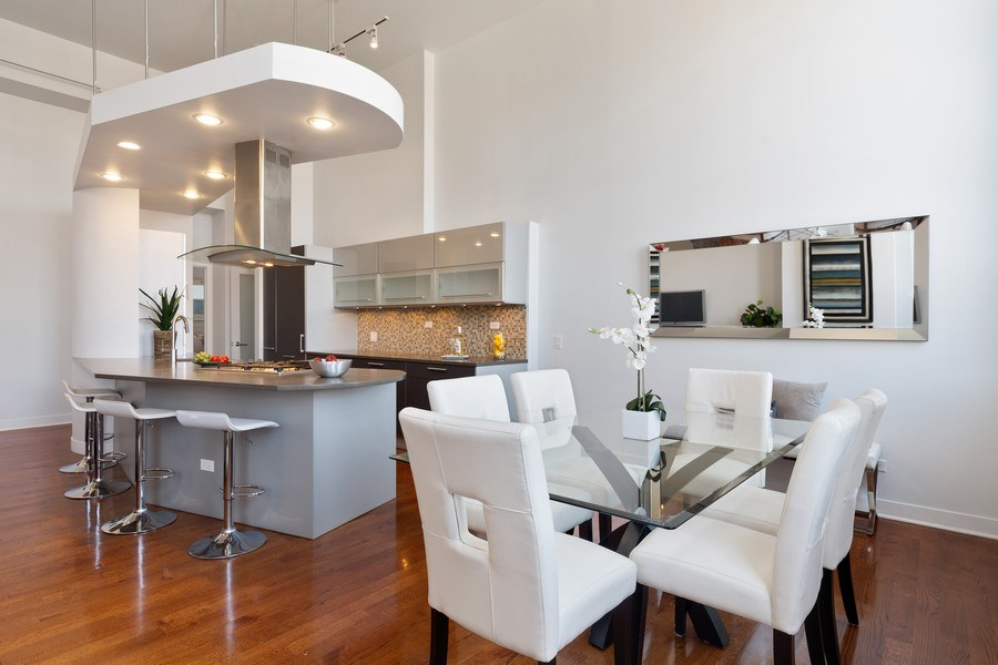 Real Estate Photography - 1445 W. Belden Ave, Unit 3K, Chicago, IL, 60614 - Kitchen / Dining Room