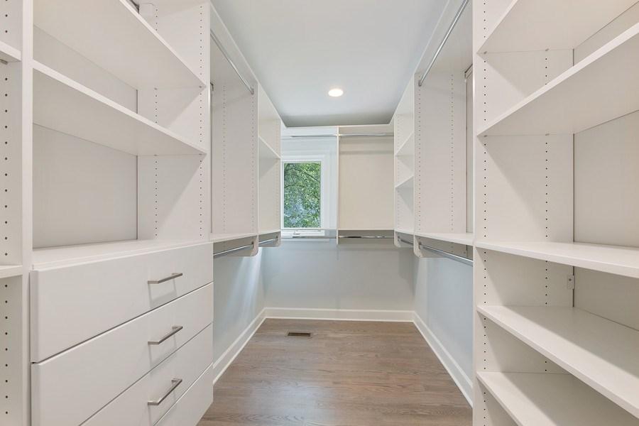 Real Estate Photography - 195 Linden Park Pl, Highland Park, IL, 60035 - Master Bedroom Closet