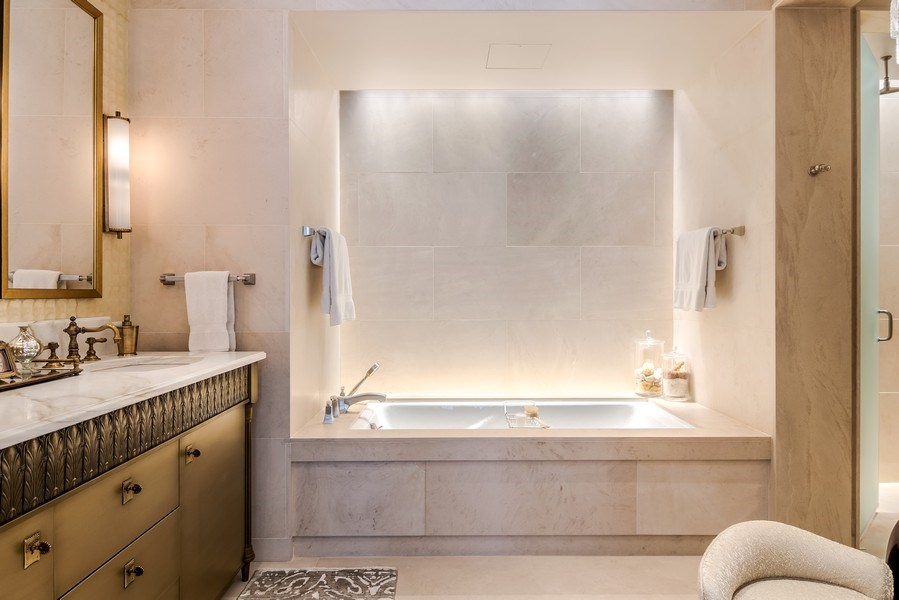 Real Estate Photography - 159 Walton, unit 11-F, CHICAGO, IL, 60611 - Master Bathroom