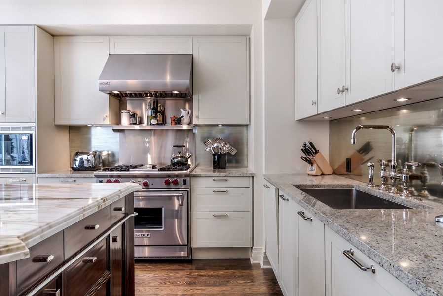 Real Estate Photography - 159 Walton, unit 11-F, CHICAGO, IL, 60611 - Kitchen