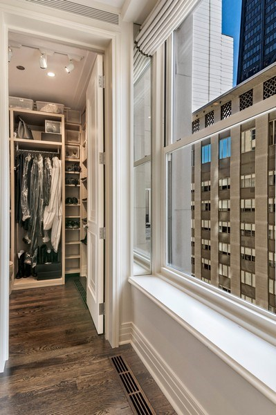 Real Estate Photography - 159 Walton, unit 11-F, CHICAGO, IL, 60611 - Master Bedroom Closet