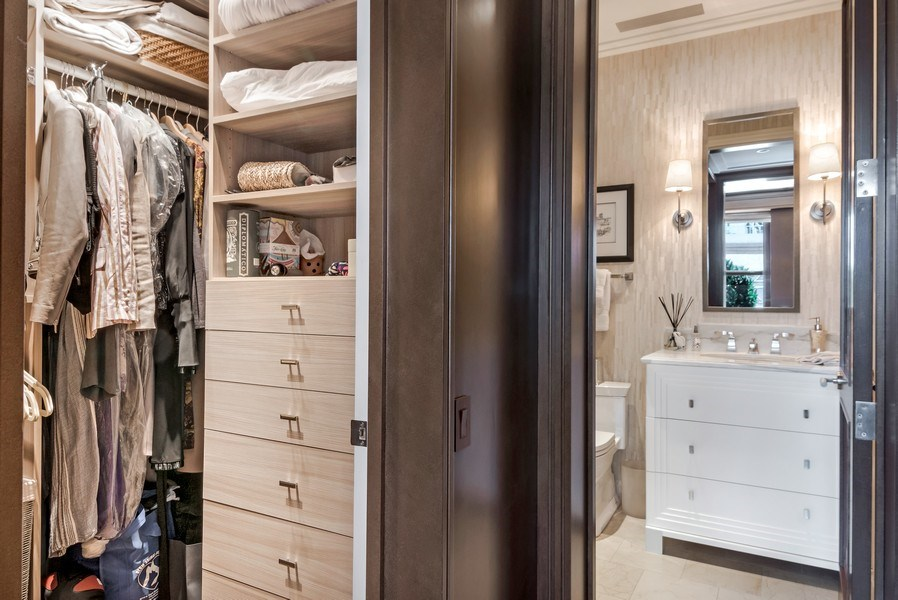 Real Estate Photography - 159 Walton, unit 11-F, CHICAGO, IL, 60611 - Closet
