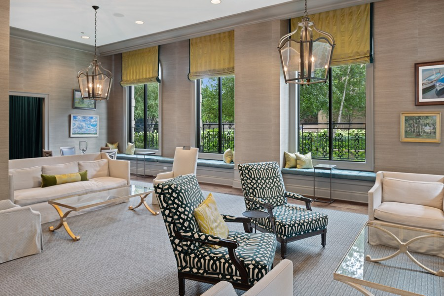 Real Estate Photography - 2550 N Lakeview, Unit S1205, Chicago, IL, 60614 - Club Room