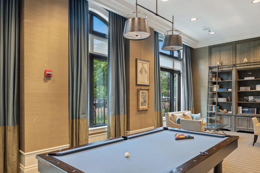 Real Estate Photography - 2550 N Lakeview, Unit S1205, Chicago, IL, 60614 - Library & Billiards