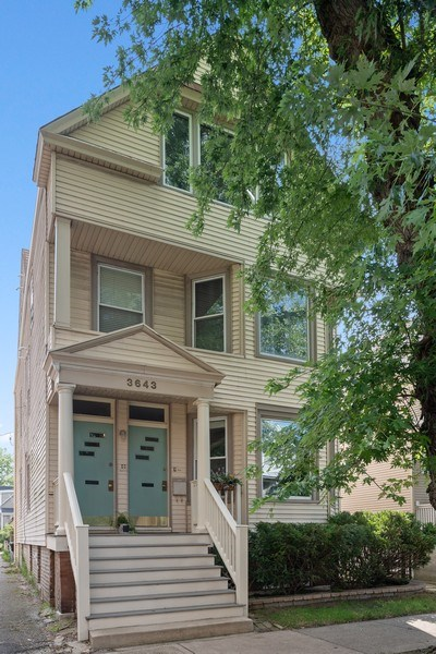 Real Estate Photography - 3643 N Hoyne, Unit 1, Chicago, IL, 60618 - Front View