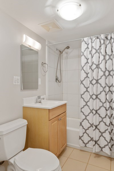 Real Estate Photography - 3643 N Hoyne, Unit 1, Chicago, IL, 60618 - 2nd Bathroom
