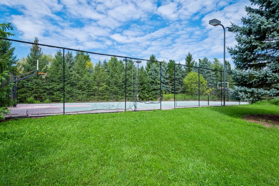 Real Estate Photography - 19 Rolling Hills Dr, Barrington Hills, IL, 60010 - Tennis Court