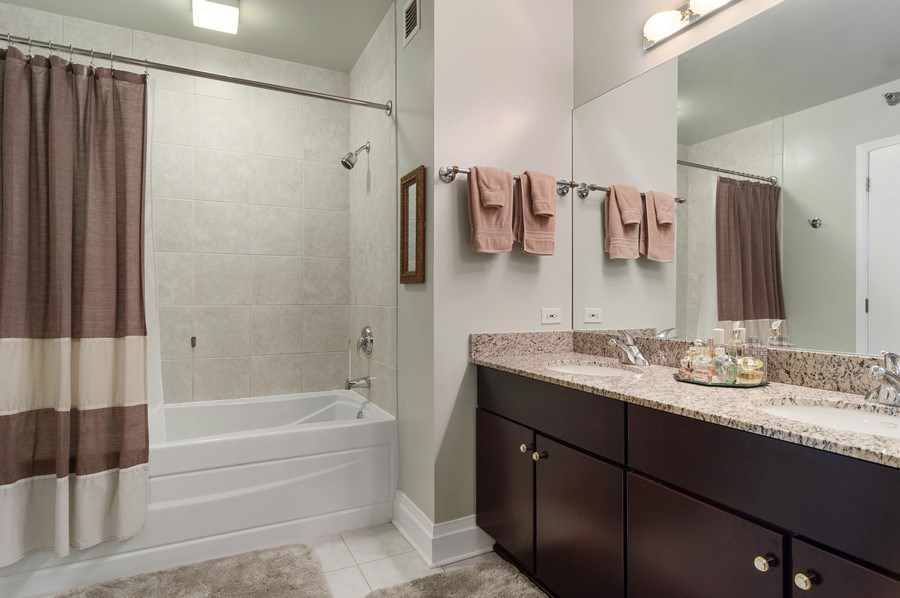 Real Estate Photography - 33 W Ontario St, Apt 30H, Chicago, IL, 60654 - Master Bathroom
