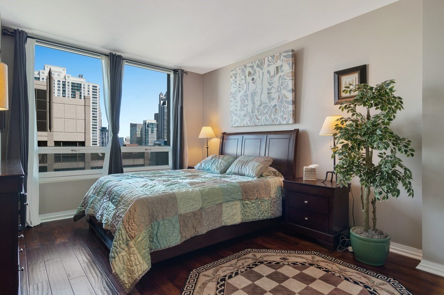 Real Estate Photography - 33 W Ontario St, Apt 30H, Chicago, IL, 60654 - Master Bedroom