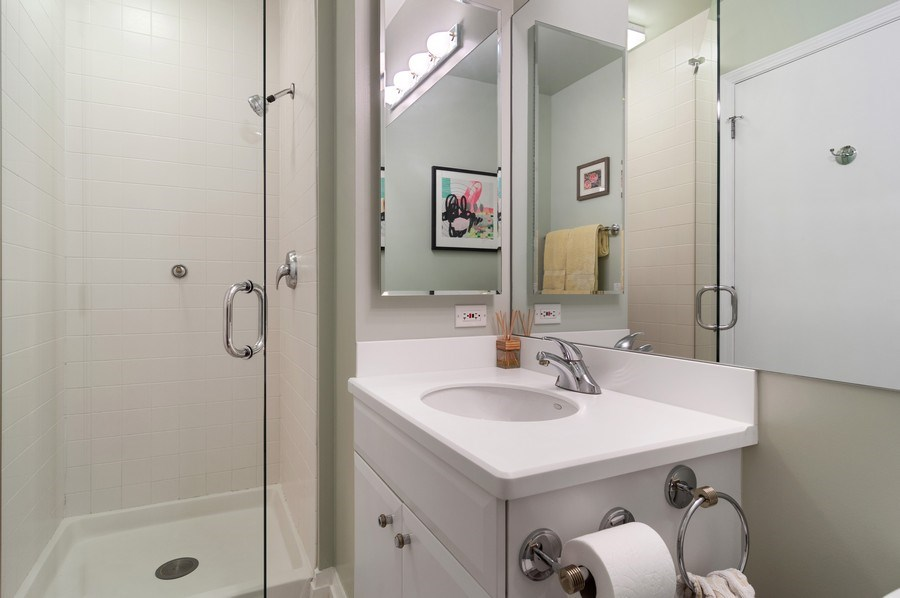 Real Estate Photography - 33 W Ontario St, Apt 30H, Chicago, IL, 60654 - Bathroom
