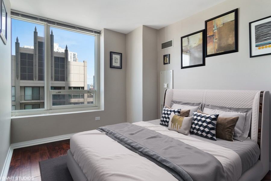 Real Estate Photography - 33 W Ontario St, Apt 30H, Chicago, IL, 60654 - 2nd Bedroom