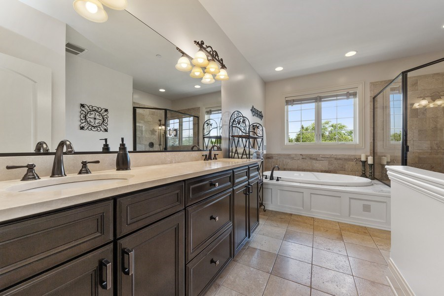 Real Estate Photography - 144 W Quincy, Westmont, IL, 60559 - Master Bathroom
