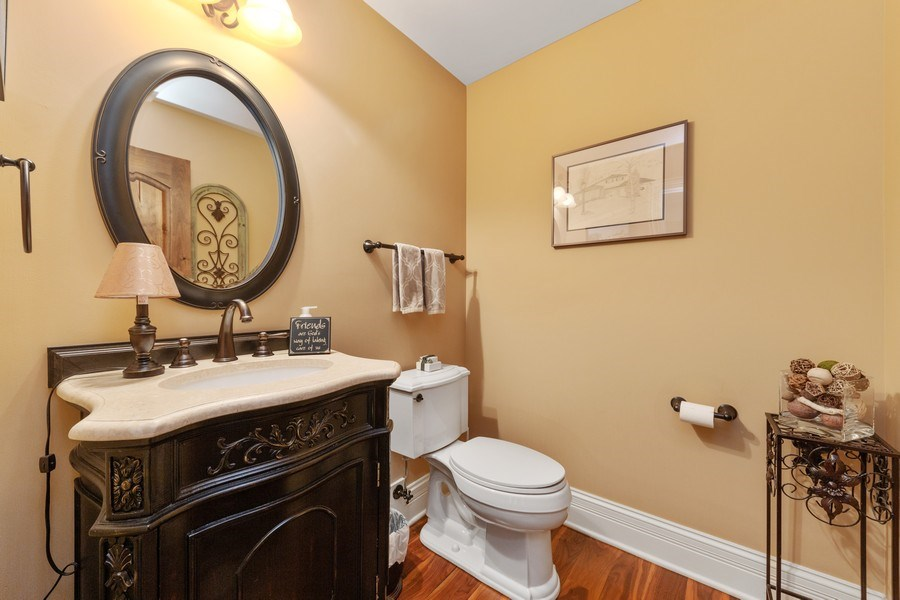 Real Estate Photography - 144 W Quincy, Westmont, IL, 60559 - Powder Room