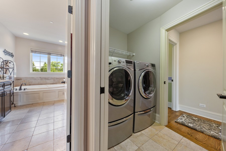 Real Estate Photography - 144 W Quincy, Westmont, IL, 60559 - Laundry Room
