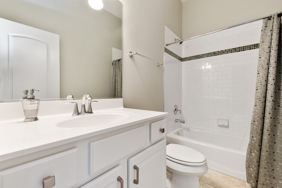 Real Estate Photography - 144 W Quincy, Westmont, IL, 60559 - 2nd Bathroom