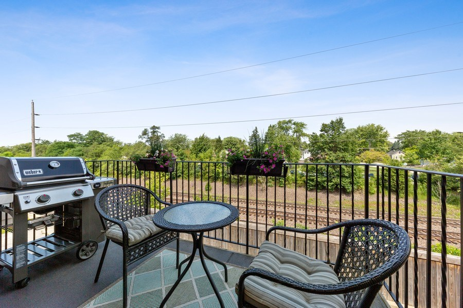 Real Estate Photography - 144 W Quincy, Westmont, IL, 60559 - Balcony