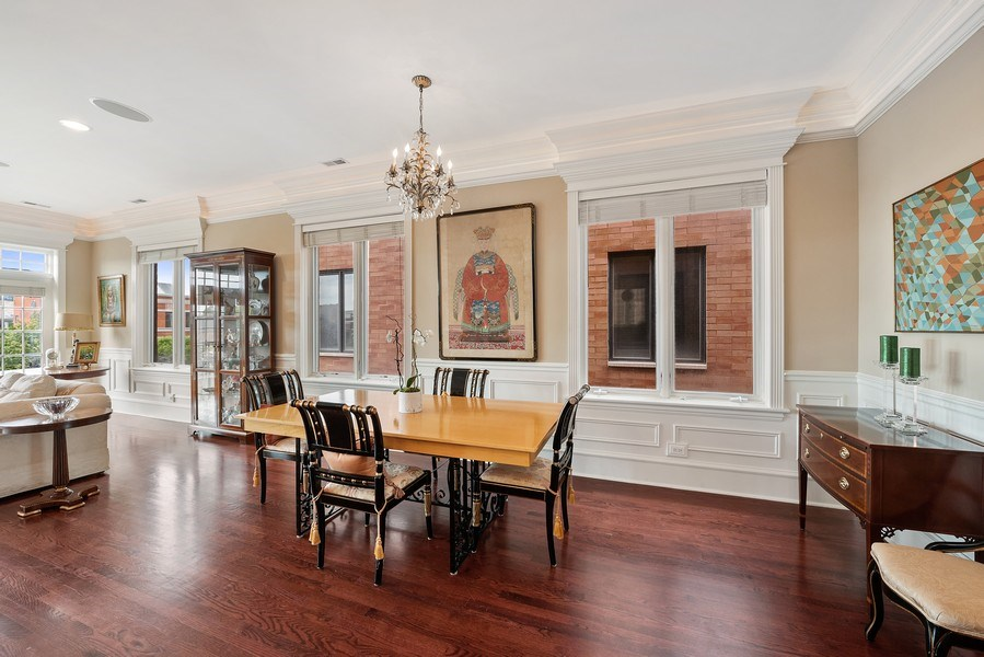 Real Estate Photography - 1359 N Mohawk Ave, Unit 4, Chicago, IL, 60610 - Dining Room