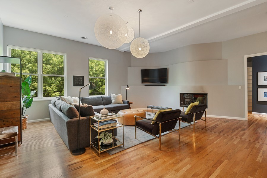 Real Estate Photography - 400 N Racine, 219, Chicago, IL, 60642 - Living Room