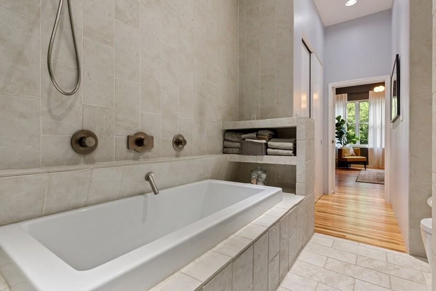 Real Estate Photography - 400 N Racine, 219, Chicago, IL, 60642 - Master Bathroom