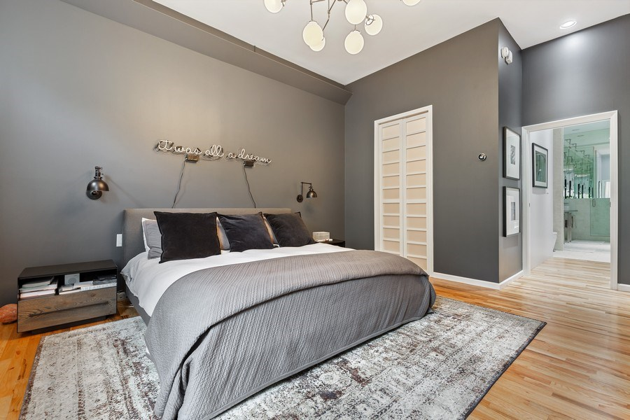 Real Estate Photography - 400 N Racine, 219, Chicago, IL, 60642 - Master Bedroom