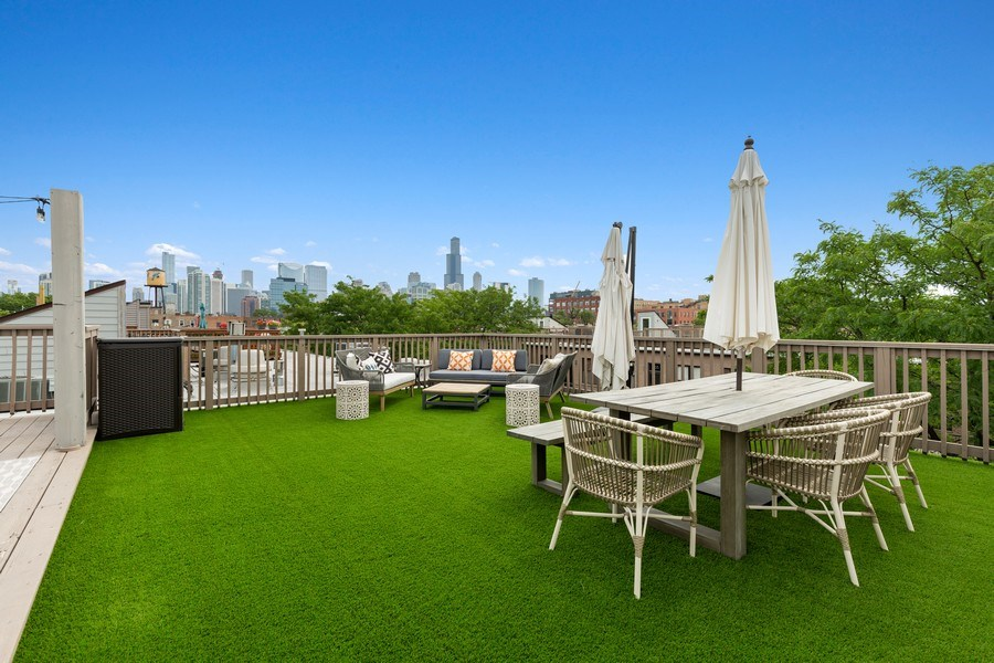 Real Estate Photography - 400 N Racine, 219, Chicago, IL, 60642 - Roof Deck