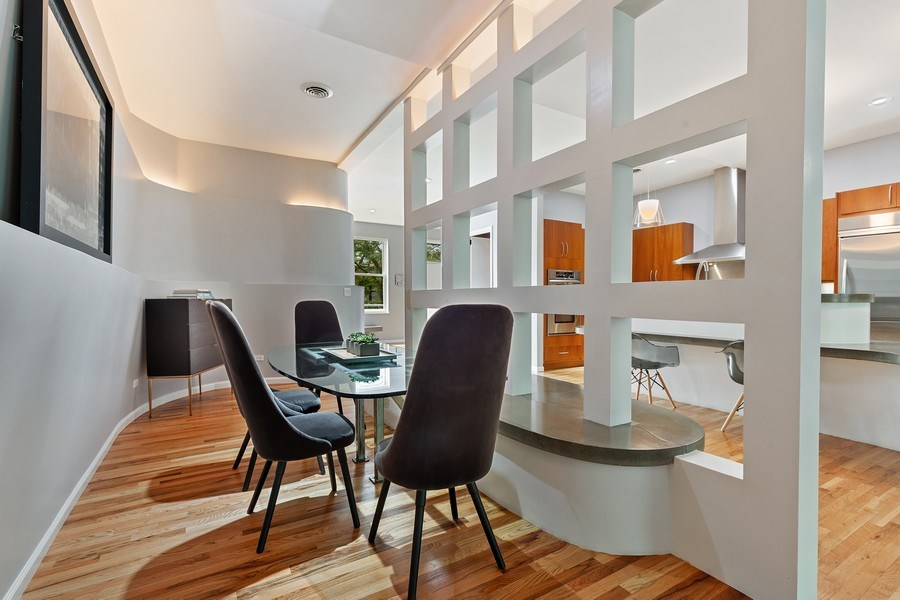Real Estate Photography - 400 N Racine, 219, Chicago, IL, 60642 - Dining Room