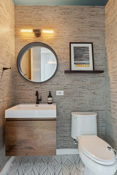 Real Estate Photography - 400 N Racine, 219, Chicago, IL, 60642 - Half Bath
