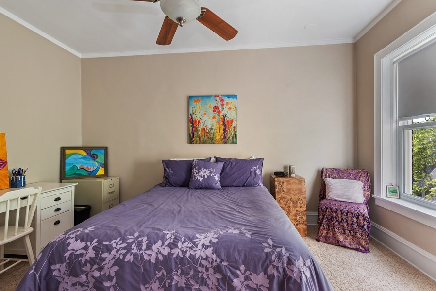 Real Estate Photography - 809 Ridge, Unit 3, Evanston, IL, 60202 - 2nd Bedroom