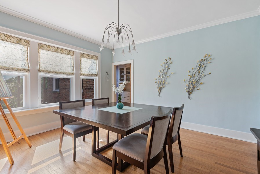 Real Estate Photography - 809 Ridge, Unit 3, Evanston, IL, 60202 - Dining Room
